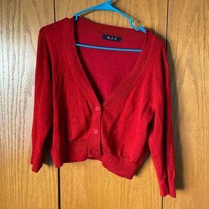 💜 3/$15! Mak cropped red sweater 1X